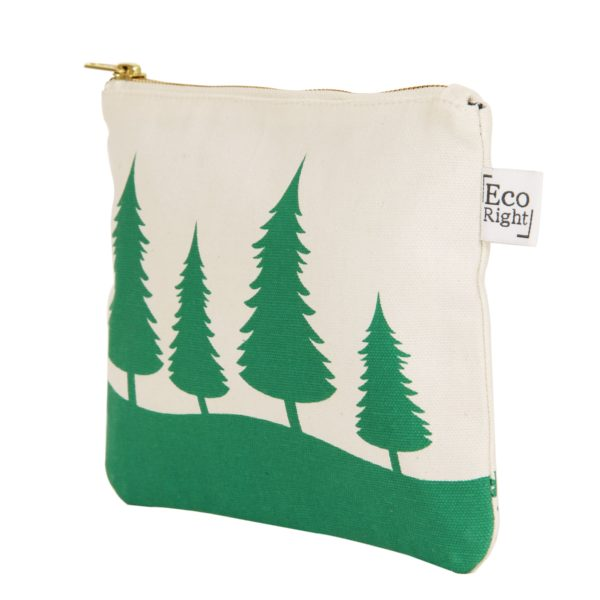Christmas Cosmetic Pouch_EcoRight_Side_Green
