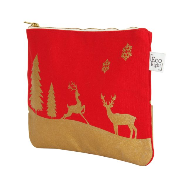 Christmas Cosmetic Pouch_EcoRight_Side_red