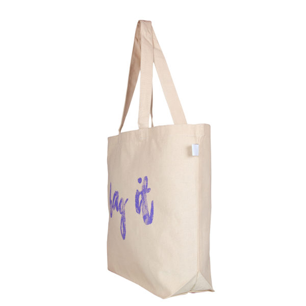 Bag it! – Natural - Canvas Large Tote Bag | EcoRight Bags 1