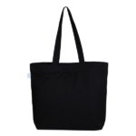 Bamboozled Panda Black Canvas Large Tote Bag | EcoRight Bags 2