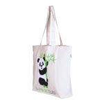 Bamboozled Panda–Natural-Canvas Large Tote Bag | EcoRight Bags 1