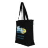Civilizations Fade Black Canvas Large Tote Bag | EcoRight Bags 1