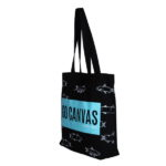 Go Canvas Black Canvas Large Tote Bag | EcoRight Bags 1