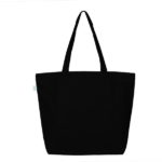 Last Season Black Canvas Large Tote Bag   EcoRight Bags 2