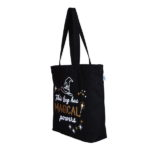 Magical Powers Black Canvas Large Tote Bag | EcoRight Bags 1