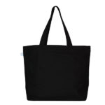 Porcupine Hug Black Canvas Large Tote Bag | EcoRight Bags 3