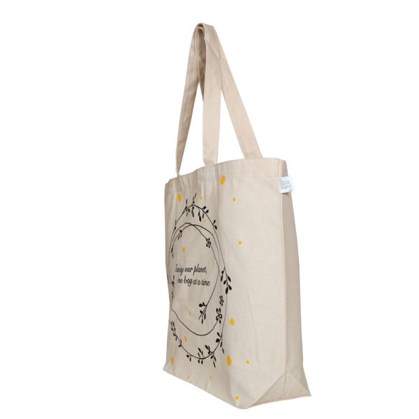 Save Our Planet - Natural - Canvas Large Tote Bag l EcoRight Bags 1
