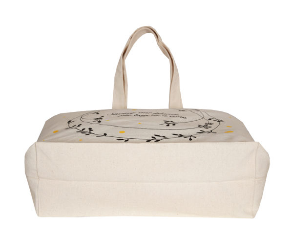 Save Our Planet - Natural - Canvas Large Tote Bag l EcoRight Bags 2