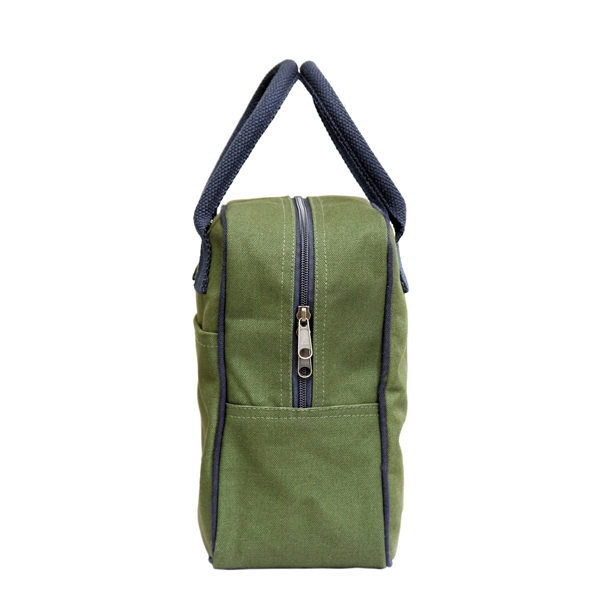 Canvas Lunch Tote Bag Dark Green | EcoRight Bags 1