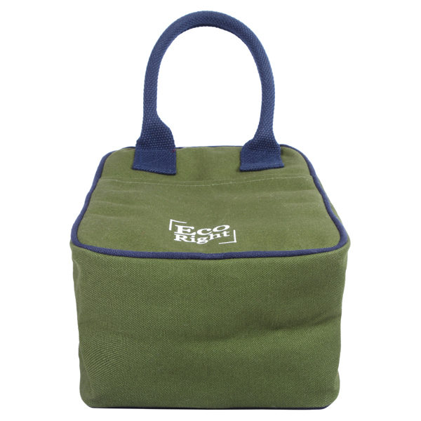 Canvas Lunch Tote Bag Dark Green | EcoRight Bags 2