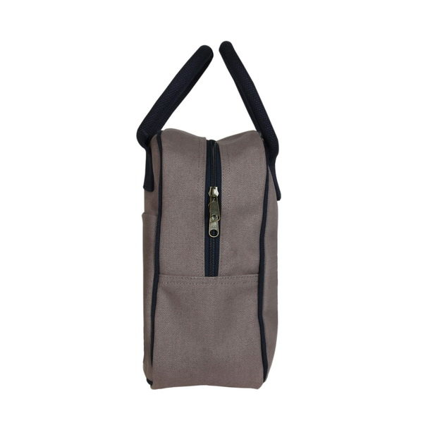 Canvas Lunch Tote Bag Grey | EcoRight Bags 1