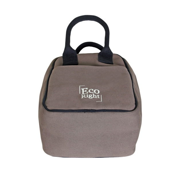 Canvas Lunch Tote Bag Grey | EcoRight Bags 2