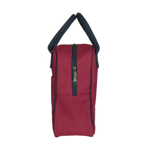 Canvas Lunch Tote Bag Maroon | EcoRight Bags 5