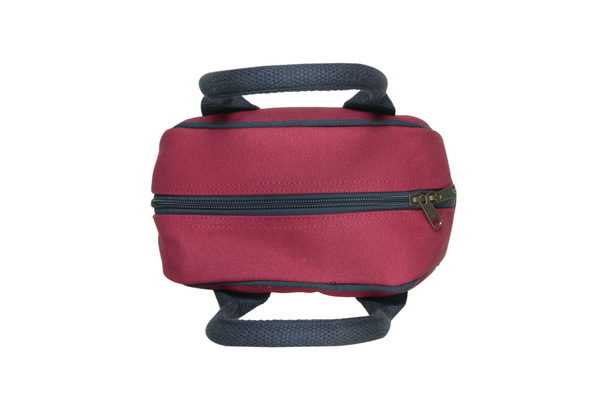 Canvas Lunch Tote Bag Maroon | EcoRight Bags 6