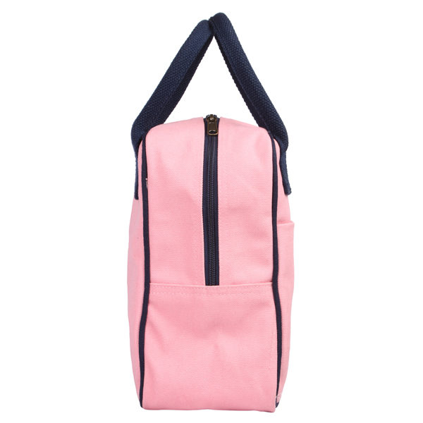 Canvas Lunch Tote Bag Pink | EcoRight Bags 1