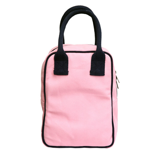 Canvas Lunch Tote Bag Pink | EcoRight Bags 3