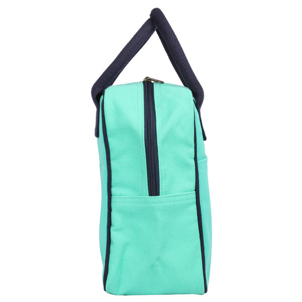 Canvas Lunch Tote Bag Turquoise | EcoRight Bags 1