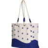 Canvas Premium Beach Bag Boats Natural | EcoRigh Bags 3