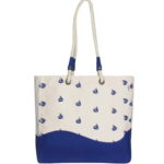 Canvas Premium Beach Bag Boats Natural | EcoRigh Bags