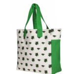 Canvas Premium Beach Bag Turtles Natural | EcoRight Bags 1