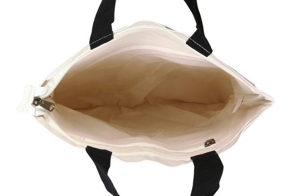 d3d48058895 Canvas Zipper Tote Bag, Green is the new black - Natural