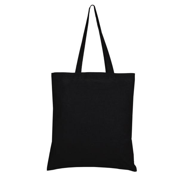 Cotton Tote Bag Confused Penguins Black Ecoright