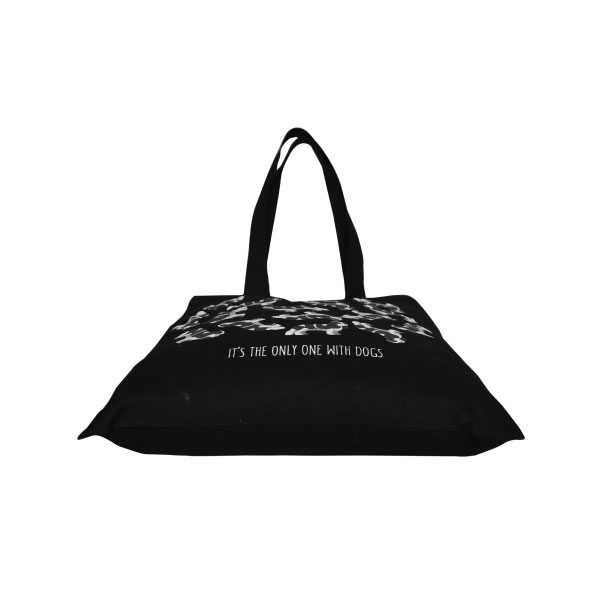 466546bf5181 Cotton Tote Bag Save the dog Planet Black-EcoRight · Home ...