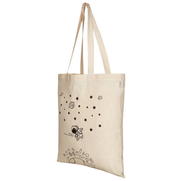 Houston we have a problem Natural Cotton Tote Bag | EcoRight Bags 2