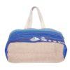Blue As Ocean Natural Juton Large Zipper Tote Bag | EcoRight Bags 3