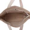 Blue As Ocean Natural Juton Large Zipper Tote Bag | EcoRight Bags 4