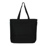 Happy Planet Black Juton Large Zipper Tote Bag | EcoRight Bags 2