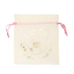 Premium Cotton Drawstring Pouch Wreath Natural | EcoRight Bags
