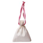 Premium Cotton Drawstring Pouch Wreath Natural | EcoRight Bags 7