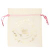 Premium Cotton Drawstring Pouch Wreath Natural | EcoRight Bags 8