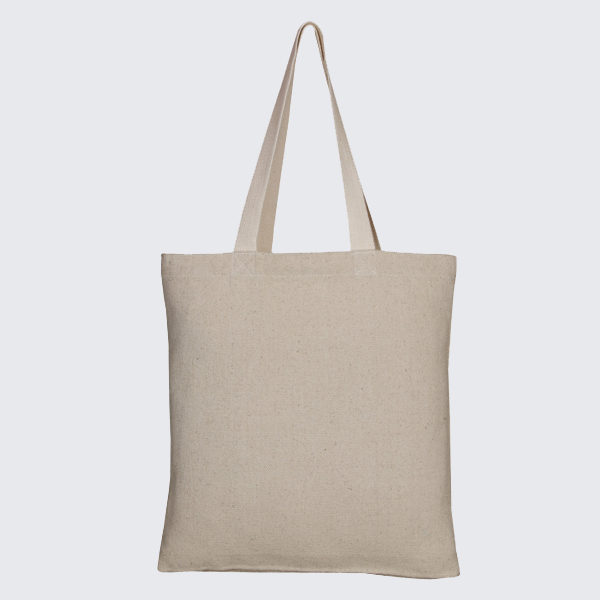 Recycled Cotton Tote Bag, – Natural_EcoRightbags_1