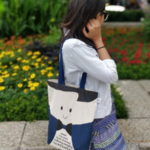 Canvas Gusset Tote - 0301N01-LS-1