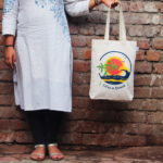 Canvas Gusset Tote Bag-0301H05-BW