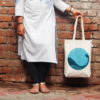 Canvas Gusset Tote Bag-0301L01-BW