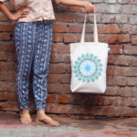 Canvas Gusset Tote Bag-0301O01-BW