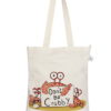 Canvas Zipper Tote Bag-0601F04-Front