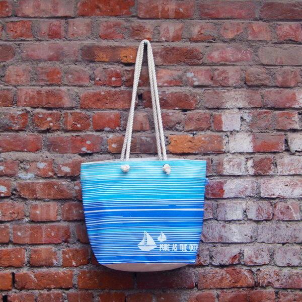 Canvas Beach Bag-1701A11-BW