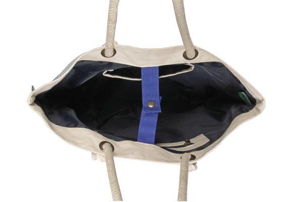 Canvas Beach Bag-1701A11-Open-1