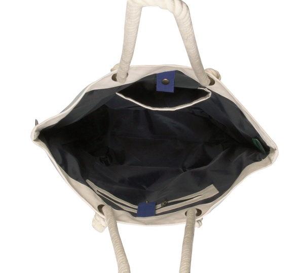 Canvas Beach Bag-1701A11-Open-2