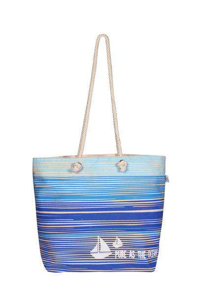 Canvas Beach Bag-1701A11-Front