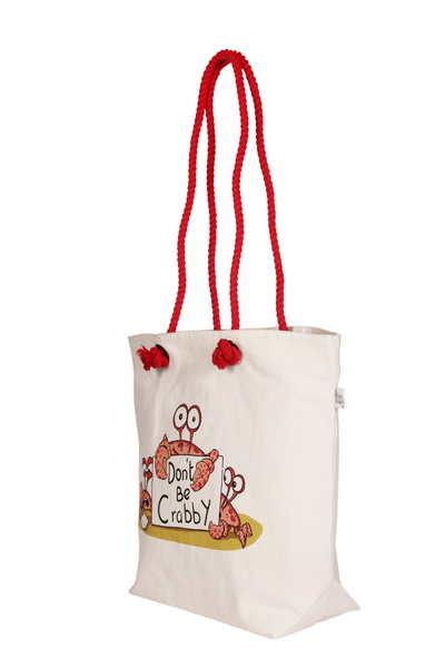 Canvas Beach Bag-1701F04-Side