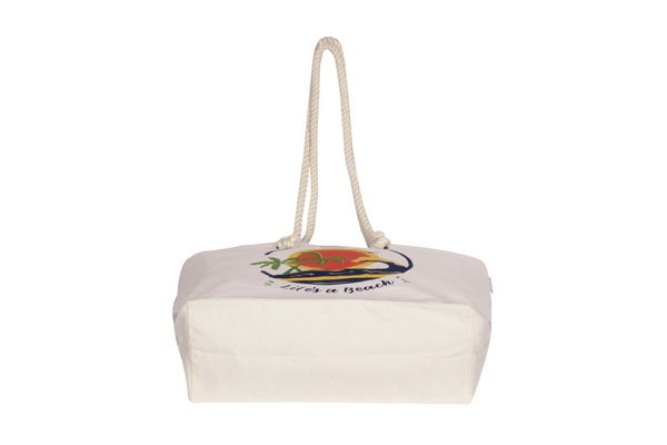 Canvas Beach Bag-1701H05-Bottom