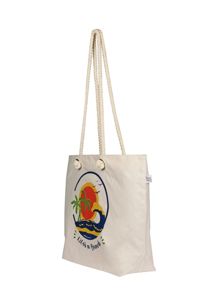 Canvas Beach Bag-1701H05-Side