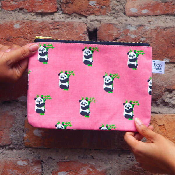 Canvas cosmetic pouch-1807S01-BW