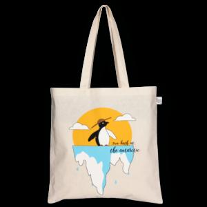 Cotton Tote Bag, Hot Penguins - Natural