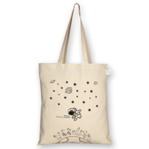 Cotton Tote Bag, Houston, we have a problem – Natural_EcoRightBags_1